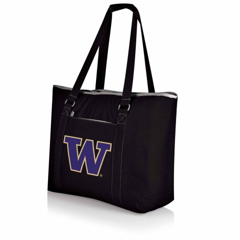 Washington Huskies Black Tahoe Beach Bag