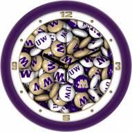 Washington Huskies Candy Wall Clock