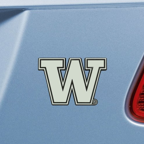 Washington Huskies Chrome Metal Car Emblem