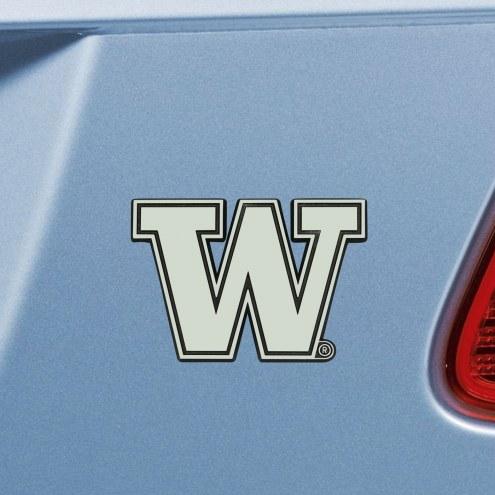 Washington Huskies Chrome Metal Car Emblem