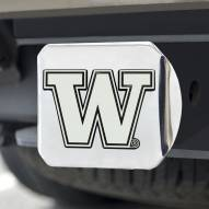 Washington Huskies Chrome Metal Hitch Cover
