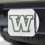 Washington Huskies Chrome Metal Hitch Cover
