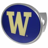 Washington Huskies Class II and III Oval Metal Hitch Cover