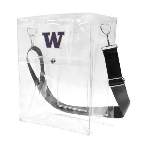 Washington Huskies Clear Ticket Satchel