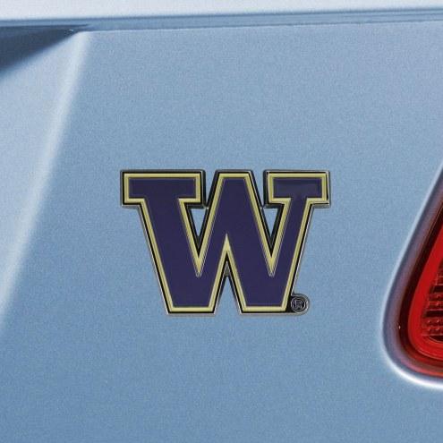 Washington Huskies Color Car Emblem