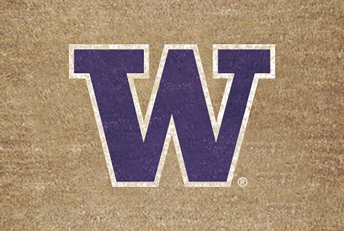 Washington Huskies Colored Logo Door Mat