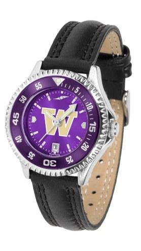 Washington Huskies Competitor AnoChrome Women's Watch - Color Bezel