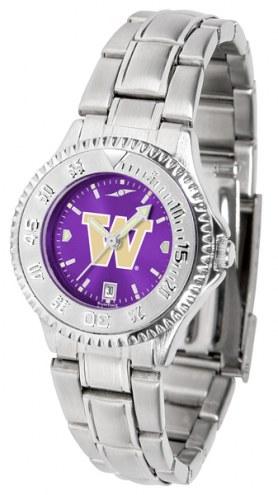 Washington Huskies Competitor Steel AnoChrome Women's Watch