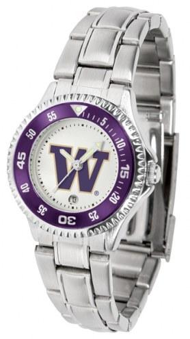 Washington Huskies Competitor Steel Women's Watch