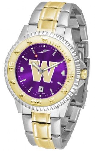 Washington Huskies Competitor Two-Tone AnoChrome Men's Watch