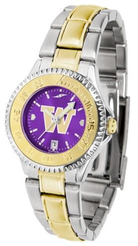 Washington Huskies Competitor Two-Tone AnoChrome Women's Watch