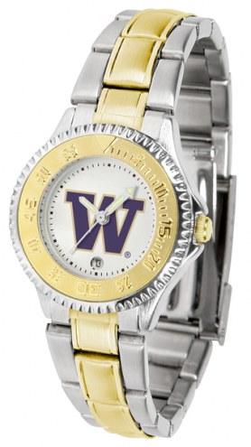 Washington Huskies Competitor Two-Tone Women's Watch