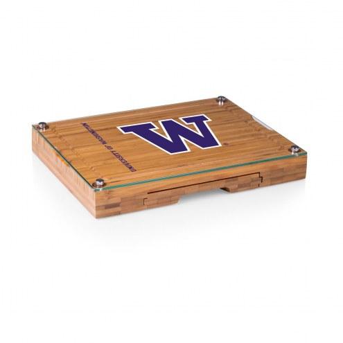 Washington Huskies Concerto Bamboo Cutting Board