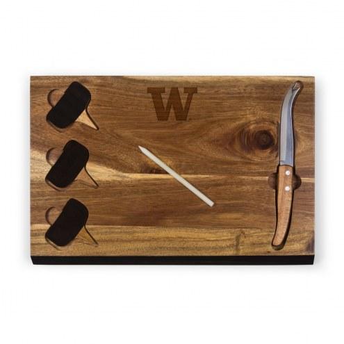 Washington Huskies Delio Bamboo Cheese Board & Tools Set