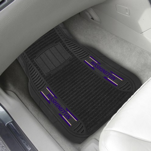 Washington Huskies Deluxe Car Floor Mat Set