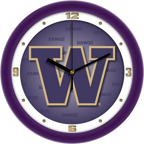 Washington Huskies Dimension Wall Clock