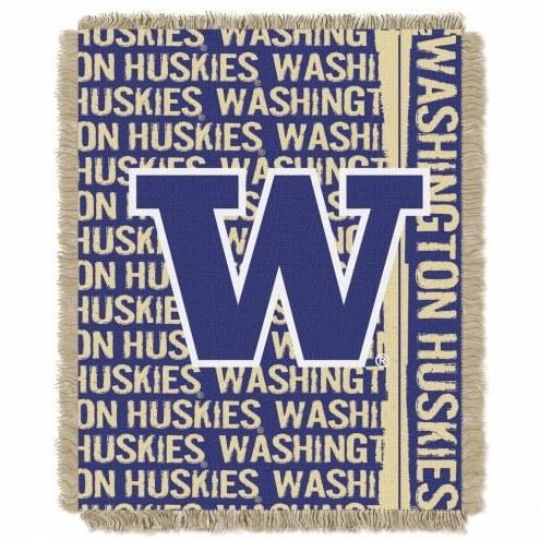 Washington Huskies Double Play Woven Throw Blanket