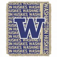 Washington Huskies Double Play Woven Throw Blanket