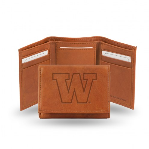 Washington Huskies Embossed Tri-Fold Wallet
