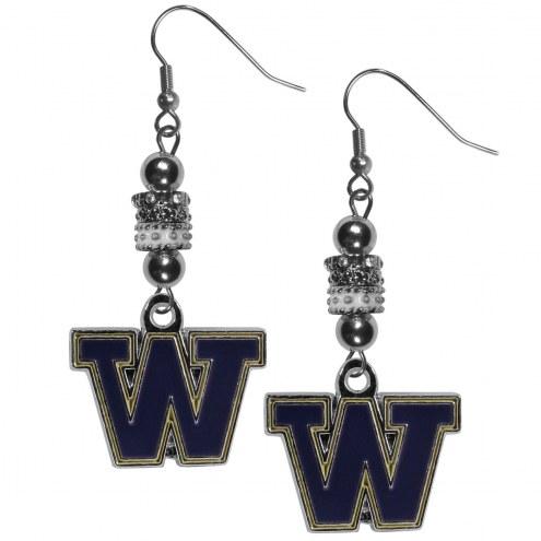 Washington Huskies Euro Bead Earrings