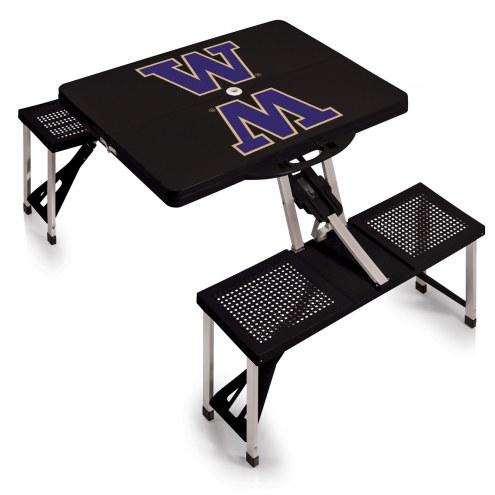 Washington Huskies Folding Picnic Table