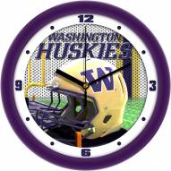Washington Huskies Football Helmet Wall Clock