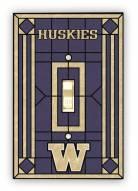 Washington Huskies Glass Single Light Switch Plate Cover