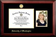 Washington Huskies Gold Embossed Diploma Frame with Portrait