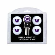 Washington Huskies Golf Ball Gift Set