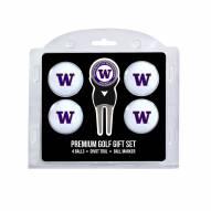 Washington Huskies Golf Ball Gift Set