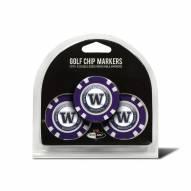 Washington Huskies Golf Chip Ball Markers