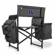Washington Huskies Gray/Black Fusion Folding Chair