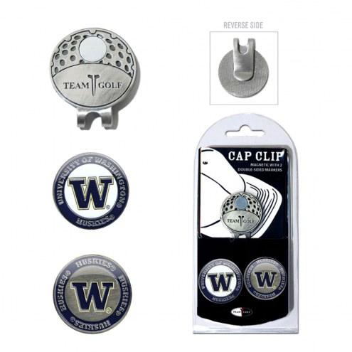 Washington Huskies Hat Clip & Marker Set