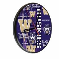 Washington Huskies Digitally Printed Wood Clock