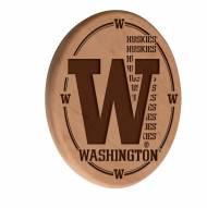 Washington Huskies Laser Engraved Wood Sign