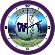 Washington Huskies Home Run Wall Clock
