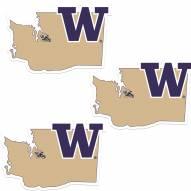 Washington Huskies Home State Decal - 3 Pack