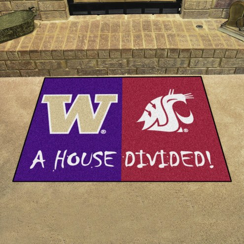 Washington Huskies/Washington State Cougars House Divided Mat