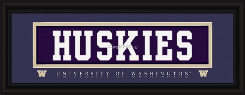 "Washington Huskies ""Huskies"" Stitched Jersey Framed Print"