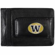 Washington Huskies Leather Cash & Cardholder