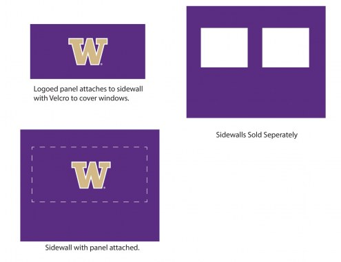 Washington Huskies Logo Canopy Sidewall Panel (Attaches to Window Sidewall)