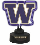 Washington Huskies Team Logo Neon Light