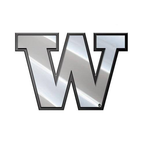Washington Huskies Metal Car Emblem