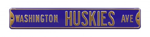 Washington Huskies NCAA Embossed Street Sign