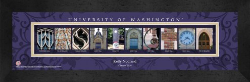 Washington Huskies Personalized Campus Letter Art