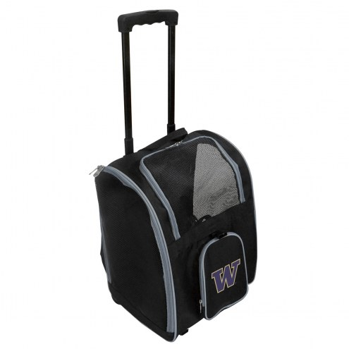 Washington Huskies Premium Pet Carrier with Wheels