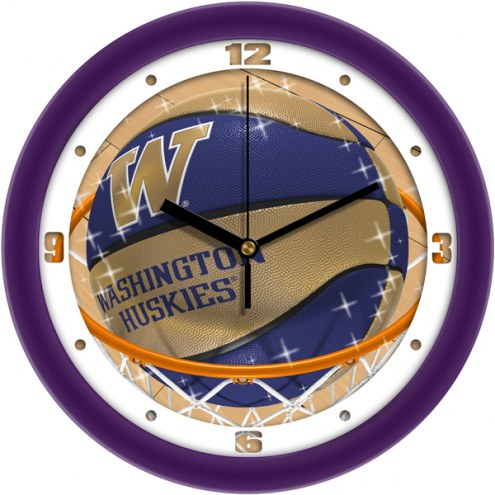 Washington Huskies Slam Dunk Wall Clock