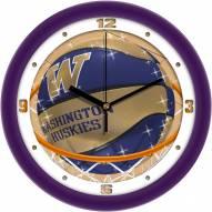 Washington Huskies Slam Dunk Wall Clock