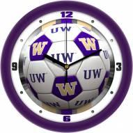 Washington Huskies Soccer Wall Clock