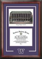 Washington Huskies Spirit Diploma Frame with Campus Image
